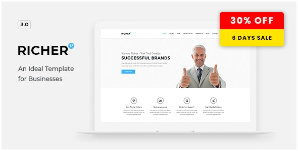 Richer - Responsive Multi-Purpose Theme - Corporate WordPress