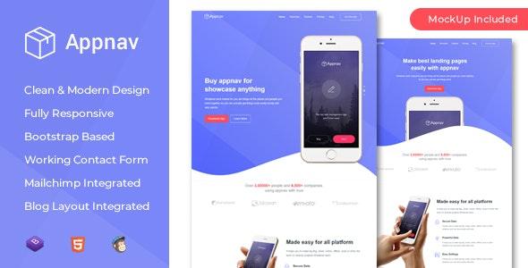 Appnav - App Landing Page - Marketing Corporate