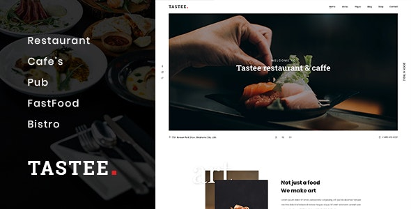 Tastee | Restaurant PSD Template - Food Retail