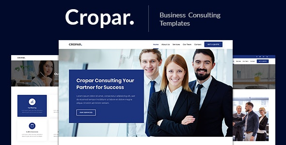 Cropar – Business Consulting Template - Corporate Site Templates