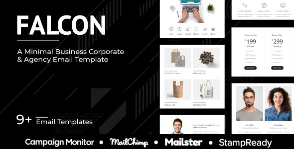 Falcon - Multipurpose Responsive Agency Email Template - StampReady + Mailster + Mailchimp - Newsletters Email Templates
