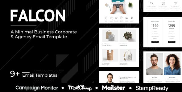 Falcon - Multipurpose Responsive Agency Email Template - StampReady + Mailster + Mailchimp