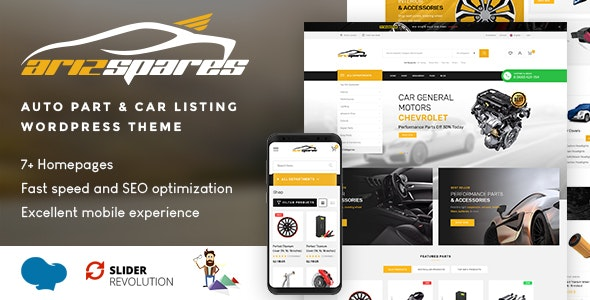 Azirspares - Auto Part & Car Listing WordPress Theme (RTL supported) - WooCommerce eCommerce