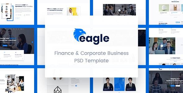 Eagle - Finance & Corporate Business PSD Template - Business Corporate
