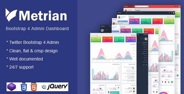 Metrian - Responsive Bootstrap 4 Admin Dashboard - Admin Templates Site Templates