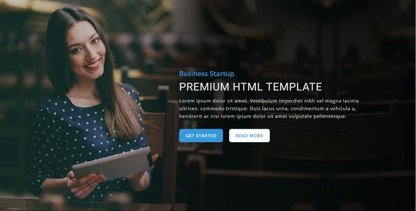 Startup - Responsive HTML Landing Page