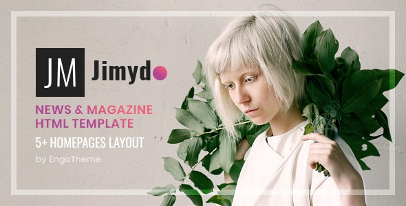 JIMYDO – News & Magazine HTML Template - Miscellaneous Site Templates