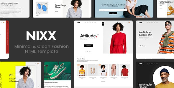 NIXX – Minimal & Clean Fashion HTML Template