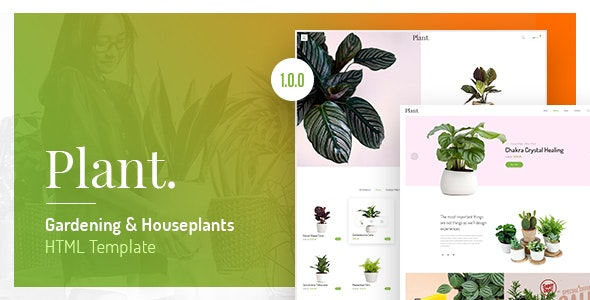 Plant - Gardening & Houseplants HTML Template - Retail Site Templates