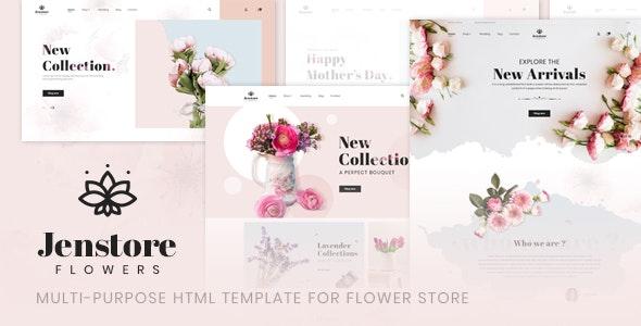 JenStore | Multi-Purpose HTML Template for Flower Store - Retail Site Templates