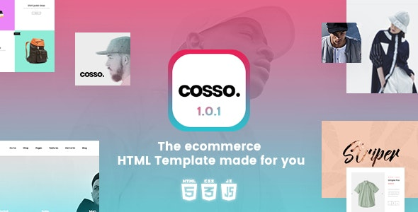 Cosso - Clean, Minimal Responsive HTML Template - Retail Site Templates