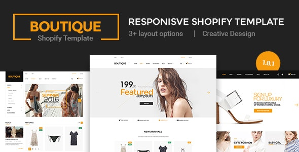 Boutique - Multi Store Responsive Shopify Theme - Shopify eCommerce
