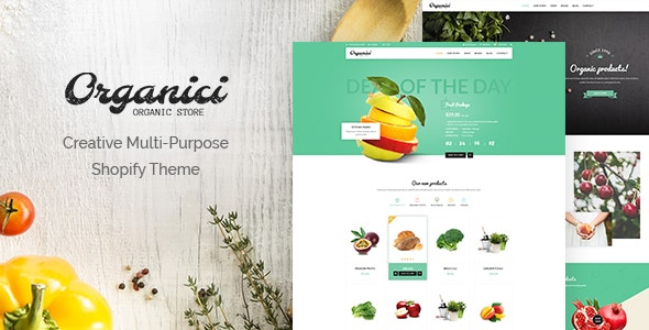Organici - Creative Multi-Purpose Shopify Theme - Shopify eCommerce