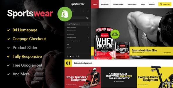 Sportwear - Multi Store Responsive Shopify Theme - Shopify eCommerce