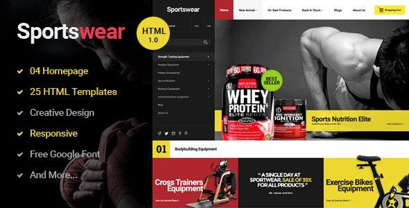 Sportwear - Multi Store Responsive HTML Template - Retail Site Templates