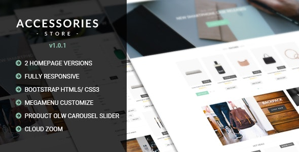 Accessories - Multi Store Responsive HTML Template - Fashion Retail
