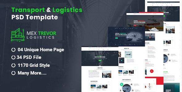 Mex Trevor - Logistic & Transport PSD Template - Business Corporate