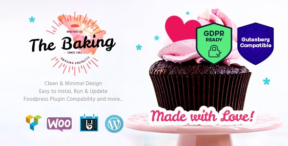 Bakery / Cake Shop / Cafe WordPress Theme - Food Retail