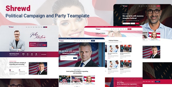 Shrewd Political PSD Template - Nonprofit PSD Templates