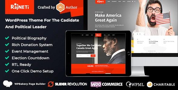 Rajneti - Political WordPress Theme for Parties, Candidates & Campaigns - Political Nonprofit