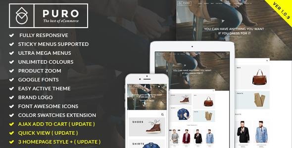 Puro - Responsive Magento Theme - Fashion Magento