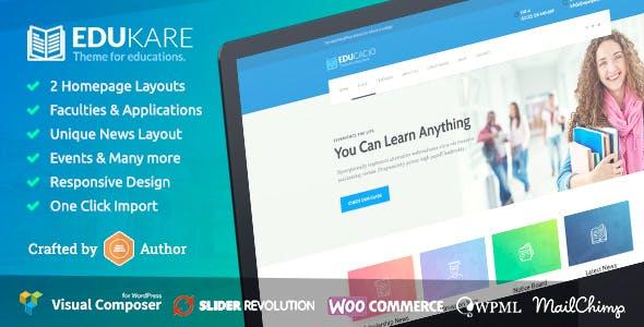 Edukare - Education WordPress Theme