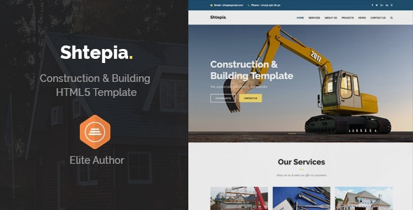 Shtepia - Construction & Building HTML5 Template - Business Corporate