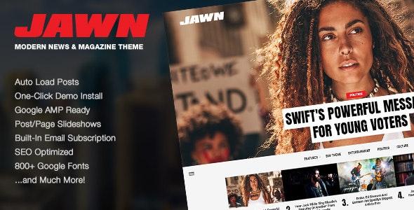 Jawn - Modern WordPress News & Magazine Theme - News / Editorial Blog / Magazine