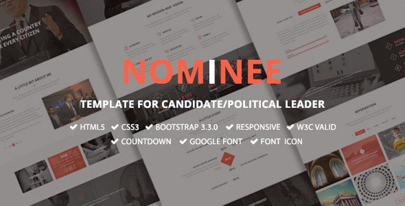 Nominee - Template for Candidate/Political Leader by TrendyTheme ...