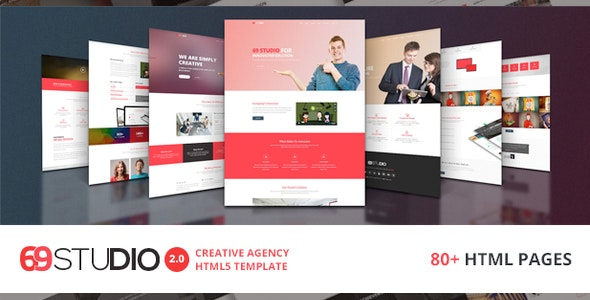69Studio Creative Agency HTML5 Template - Business Corporate