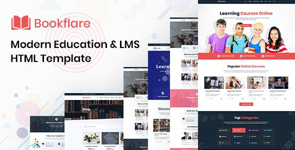 Bookflare - A Modern Education & LMS HTML Template - Corporate Site Templates
