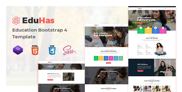 Eduhas - Education HTML Template - Charity Nonprofit