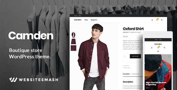 Camden - Boutique Store WordPress Theme - WooCommerce eCommerce