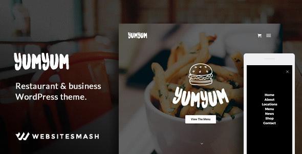 YumYum - Restaurant & Business WordPress Theme - Restaurants & Cafes Entertainment