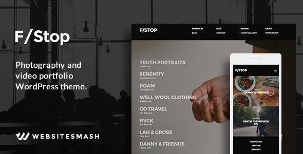 FStop - Photography & Video Portfolio WordPress Theme