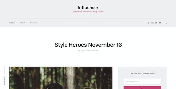 Influencer - Magazine & Blog WordPress Theme