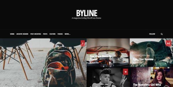 Byline - Magazine & Blog WordPress Theme