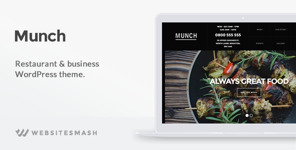Munch - Restaurant & Business WordPress Theme - Restaurants & Cafes Entertainment