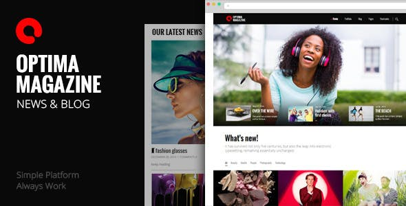 Optima - Simple Magazine WordPress Theme