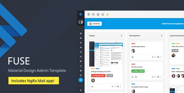 Fuse - Angular 8+ Material Design Admin Template by srcn
