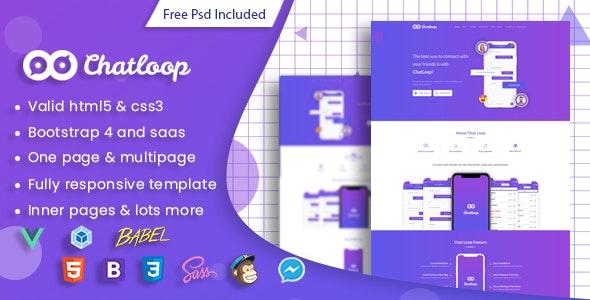 Chatloop Vue JS App Landing Page