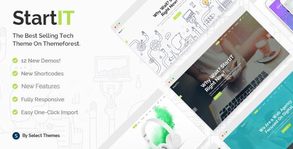 Startit - Fresh Startup Business Theme - Technology WordPress