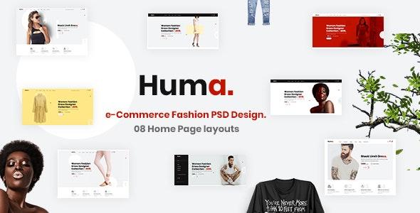 Huma - e-Commerce Fashion PSD Template - Fashion Retail