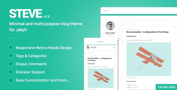 Steve - A minimal blog theme for Jekyll - Jekyll Static Site Generators