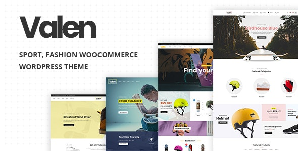 Valen v2.1 – Sport, Fashion WooCommerce WordPress Theme