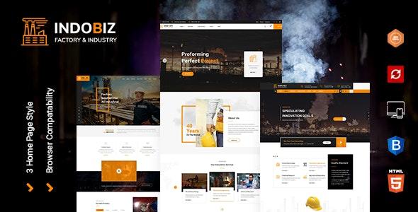Indobiz - Factory HTML Template - Corporate Site Templates