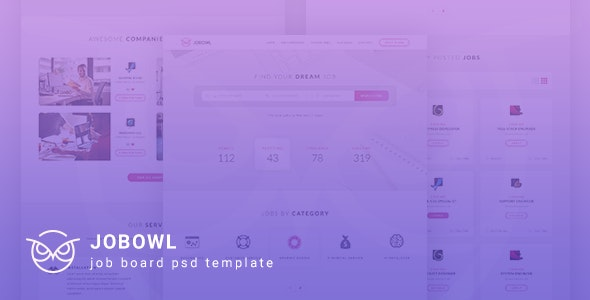 Jobowl - Creative Job Board PSD Template - Miscellaneous PSD Templates
