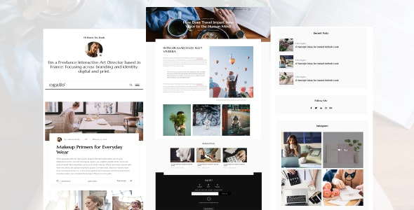 Ogato - Personal Blog Template - Personal Site Templates