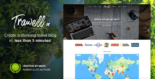 Trawell - Travel Blog WordPress Theme - Personal Blog / Magazine