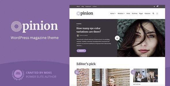 Opinion - Magazine WordPress Theme - News / Editorial Blog / Magazine
